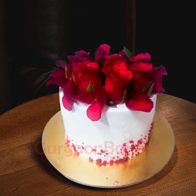 Rose Surprise Cake Front View