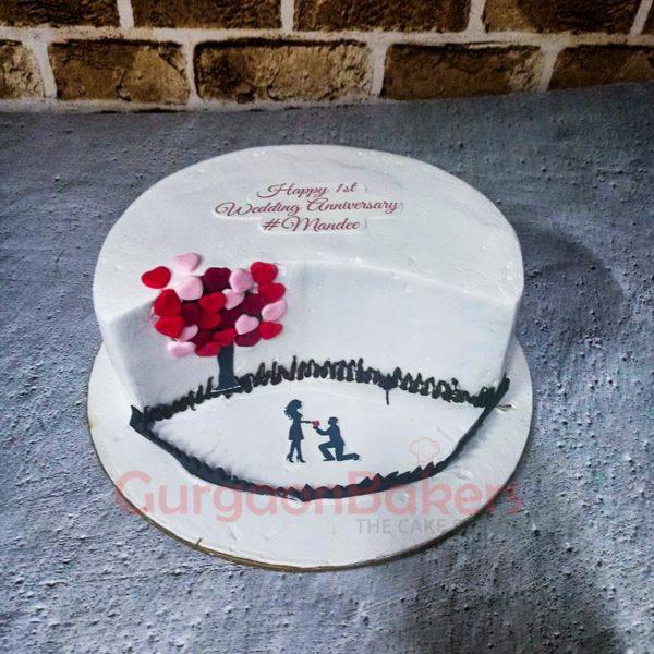Sweet Proposal Iced Cake
