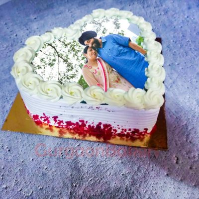 Win Her Heart Cake Side view