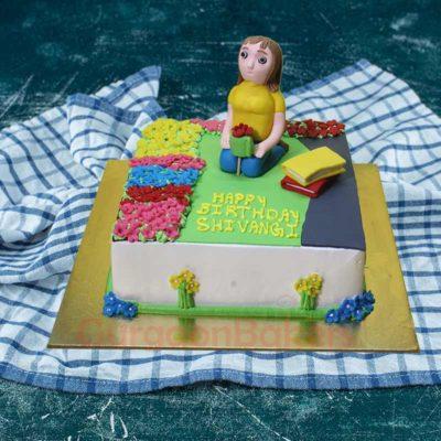 Colourful Garden Cake