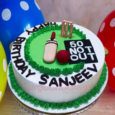 Cricket Pitch Cake top