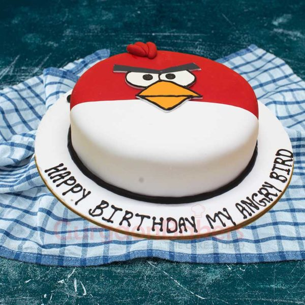 My Cute Angry Bird Cake Front