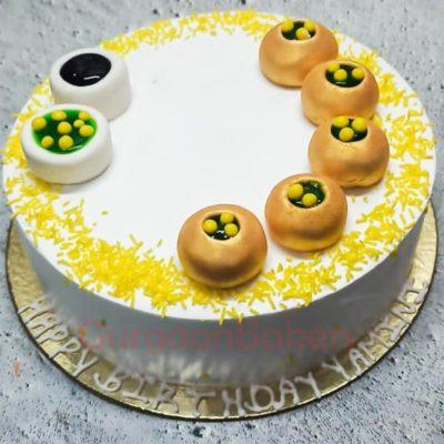 Lip-smacking Pani Puri Cake Front