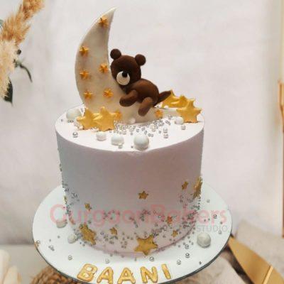 Twinkle Twinkle Teddy Bear Cake Front